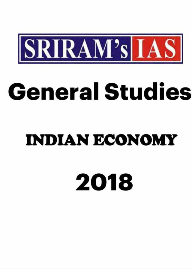 Sriram Economics Notes Updated Notes 2018