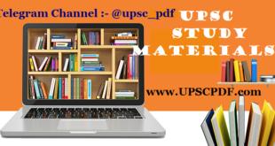 UPSC Study Material UPSCPDF