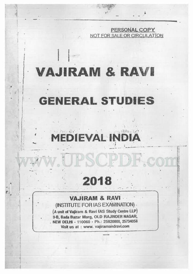 Vajiram and Ravi Medieval India Notes