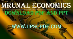 Mrunal Economy PDF and PPT