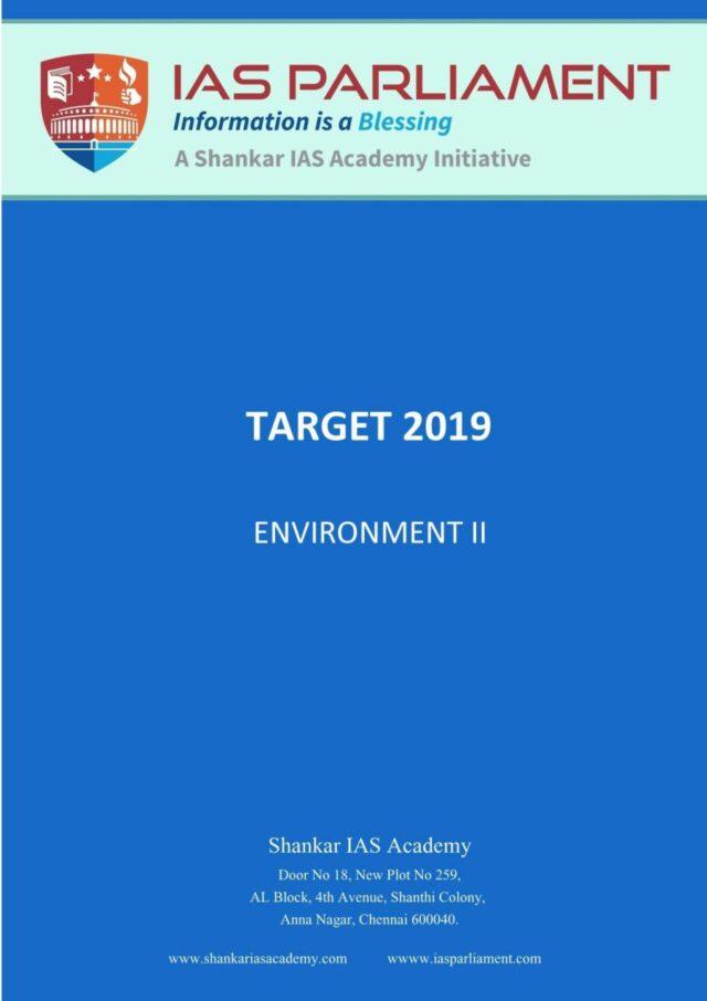 Shankar IAS Target 2019 Environment Part 2 PDF