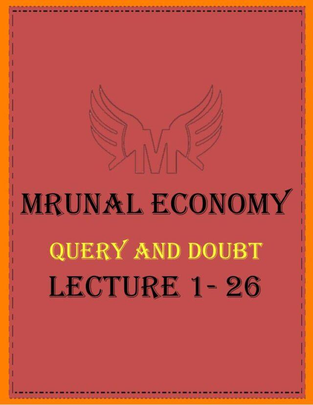 Unacademy Mrunal Economy 2019 Query and Doubt PDF