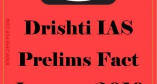 Drishti IAS Prelims Fact January 2019 Hindi PDF