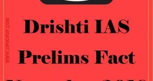 Drishti IAS Prelims Fact November 2018 Hindi PDF