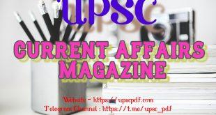UPSC Current Affairs Magzine