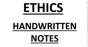 Ethixified IAS Ethics Handwritten Notes PDF