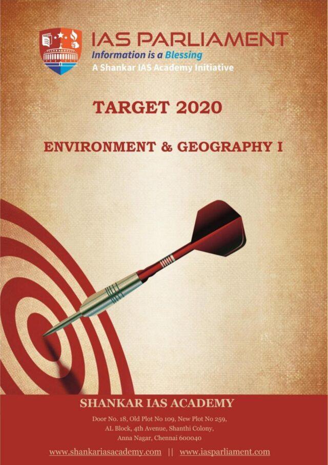 Shankar IAS Target 2020 Environment & Geography Part 1 PDF