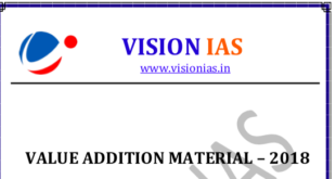 VISION IAS VALUE ADDED MATERIALS 2018