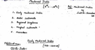 Medieval History Hand Written Notes PDF