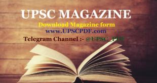 UPSC Magazine
