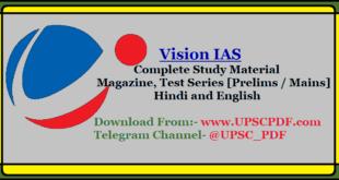 Vision IAS Study Material