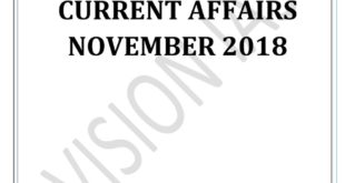 Vision IAS Monthly Current Affairs November 2018