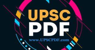 UPSC PDF