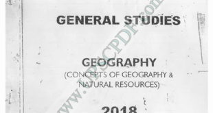 Vajiram and Ravi Geography Printed Notes PDF Download