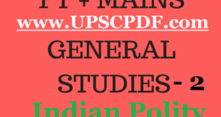 Vision IAS Indian Polity Printed Notes 2018 PDF Download