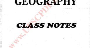 Vajiram and Ravi Geography Handwritten Notes 2018 PDF