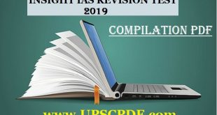 INSIGHTS IAS REVISION 2019 TEST COMPILATION