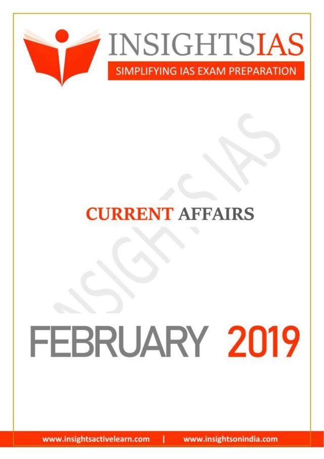 Insight IAS Current AffairsFebruary 2019PDF