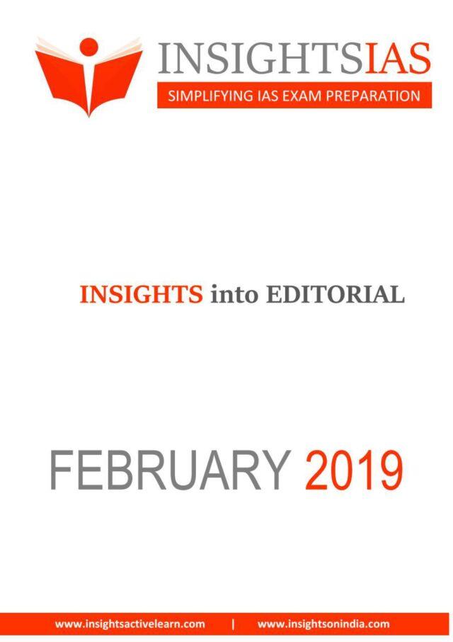 Insight IAS Daily Editorial February 2019