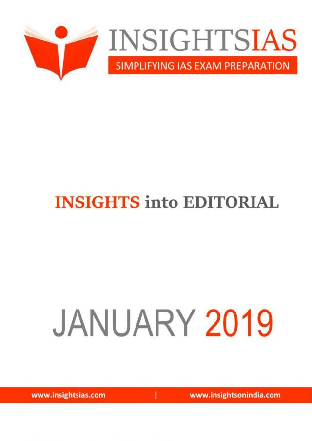 Insight IAS Daily Editorial January 2019