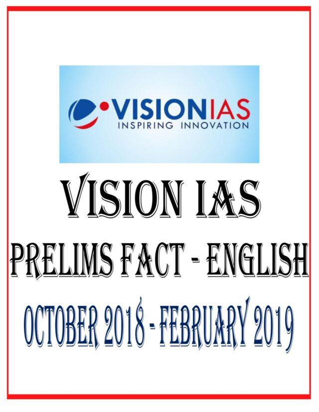 VISION IAS PRELIMS FACT ENGLISH