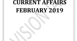 Vision IAS Current Affairs February 2019