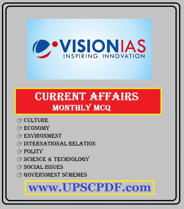 Vision IAS Monthly Current Affairs Revision 2019