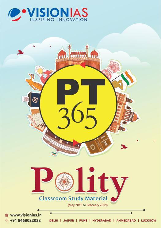 Vision IAS PT 365 2019 Polity