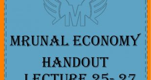 Unacademy Mrunal Economy 2019 Handout Lecture 25-27 PDF