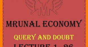 Unacademy Mrunal Economy 2019 Query and Doubt PDF