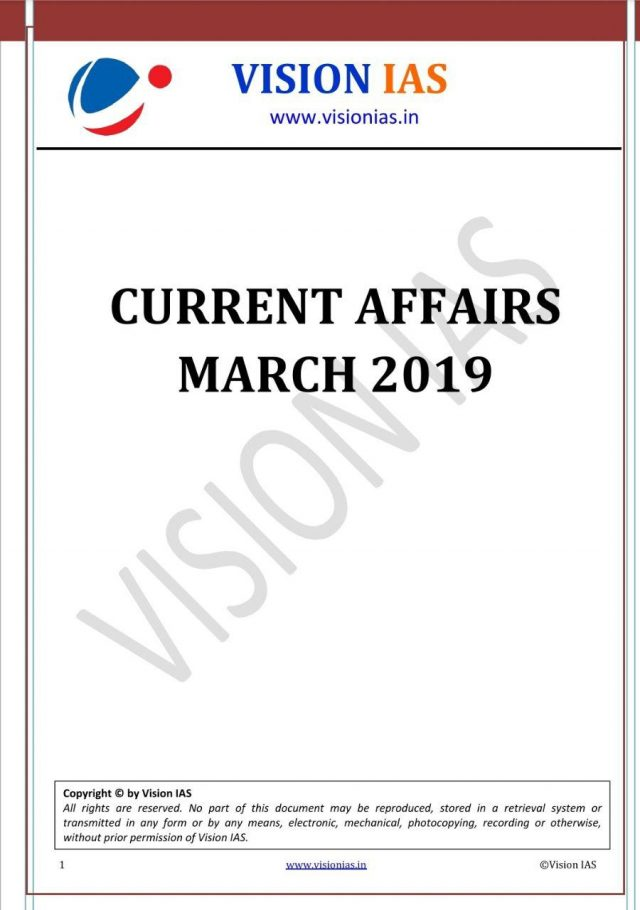 Vision IAS Current Affairs March 2019
