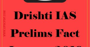 Drishti IAS Prelims Fact January 2019 Hindi PDF