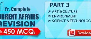 GS SCORE Current Affairs Revision 450 MCQ Part 3 PDF