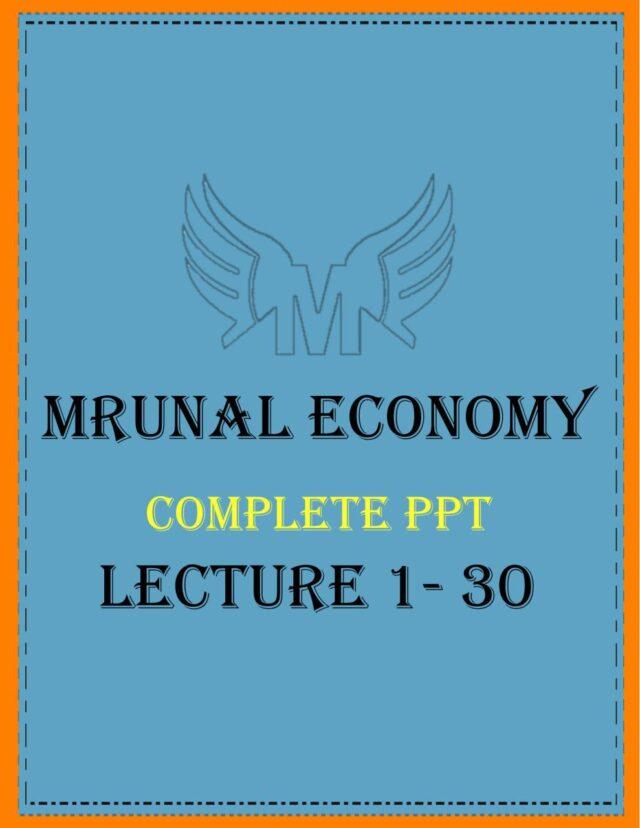 Unacademy Mrunal Economy 2019 PPT Complete