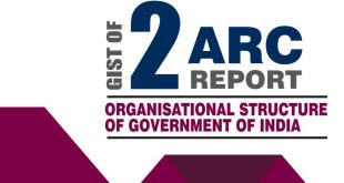 2nd ARC Report on Organisational Structure of Government of India