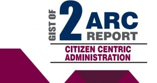 GS Score 2nd ARC Report on Citizen Centric Administration
