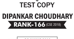 UPSC Topper Dipankar Rank 161 Public Administration Optional Copy PDF