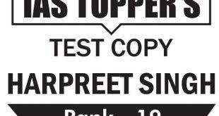 UPSC Topper Harpreet singh Rank 19 GS Copy