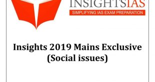 Insights IAS Mains Exclusive Social Issue 2019 PDF