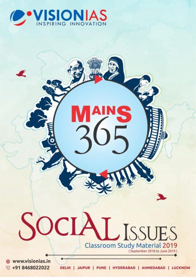 Vision IAS Mains 365 Social Issues 2019 PDF