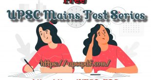 UPSC Main Test Series