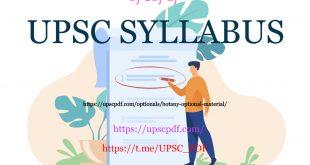 UPSC syllabus